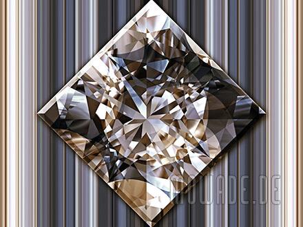 quadratisches kissen diamant bild schwarz goldbraun wohnzimmer
