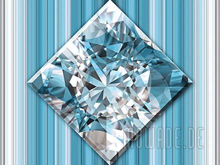 quadratisches kissen diamant bild tuerkis weiss wohnzimmer