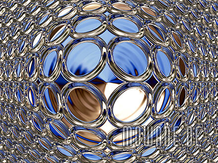 schmuck-kissen design blau gold glamour-kugel