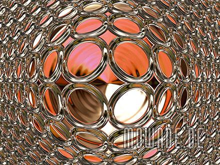 schmuck-kissen design rot gold glamour-kugel
