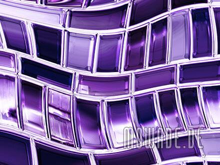 tapete violett wohnzimmer metall-optik welle