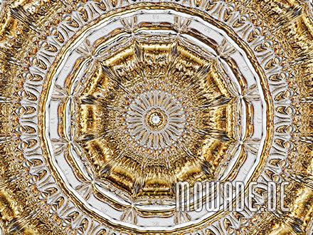 tapetendesign palazzo grau gold stuck rosette rund