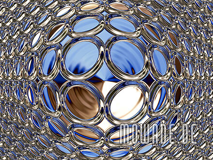 vliestapete blau gold glamour disco-kugel