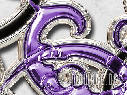 vliestapete ornament weiss violett schwarz