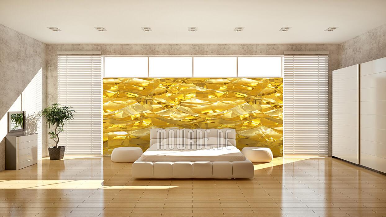 wandbelag gelb moderne tapete