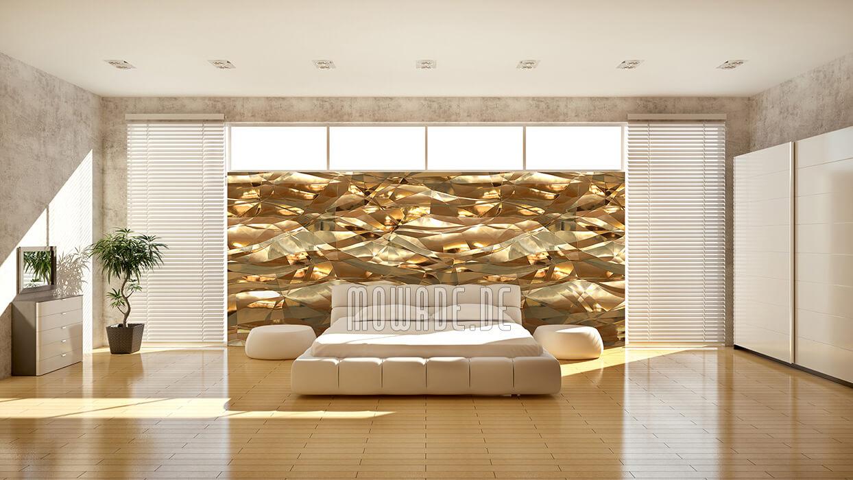 wandbelag gold knitter metall folie bild tapete