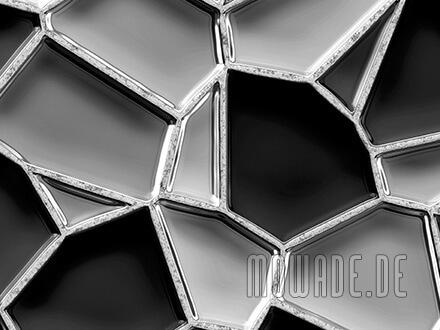 wandmotiv grau schwarz mosaik-tapete metall-optik
