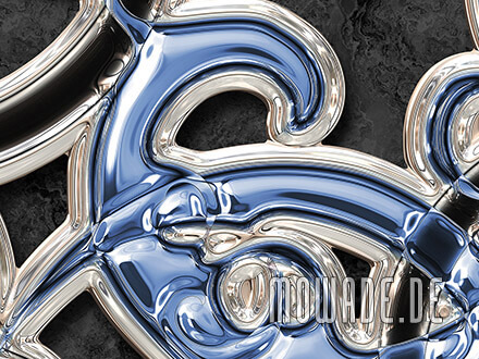 wandtapete blau schwarz ornament
