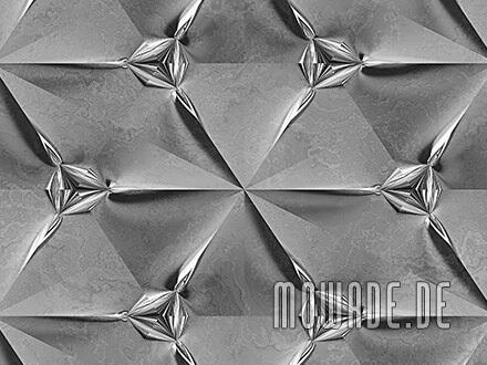 ausgefallene designtapete grau silber wohnzimmer