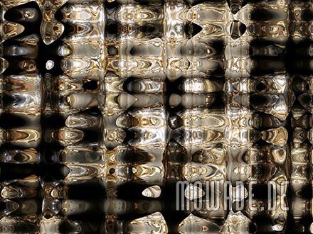 ausgefallene fototapete schwarz gold wohnzimmer bar metall-look