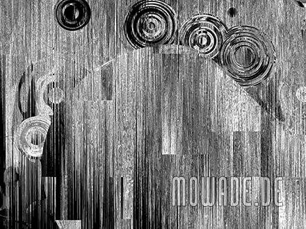 avantgardistische tapete grau schwarz schwebende kreise