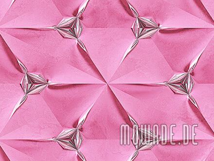 designtapete rosa silber modern