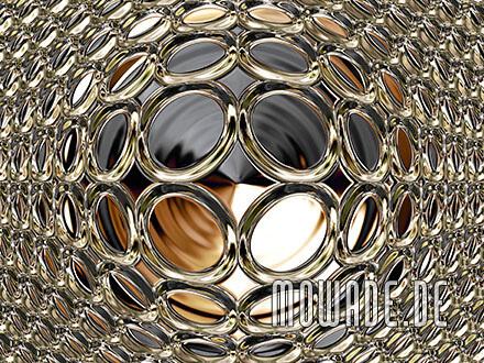fototapete schwarz gold disco kugel metalloptik