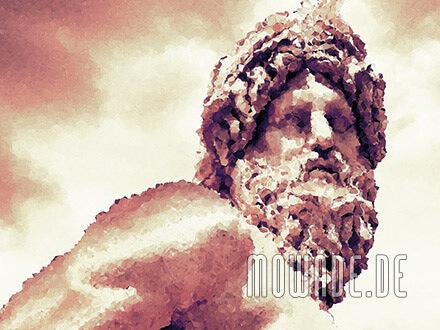 klassische fototapete statue rot gelb ocker rom ganges mosaik