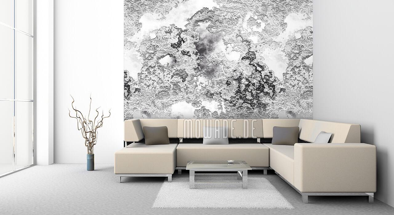 moderne design-tapete grau weiss putzstruktur buero wohnzimmer