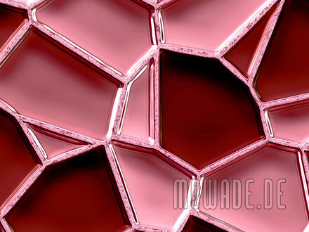 moderne vliestapete rot mosaik metall-optik waben