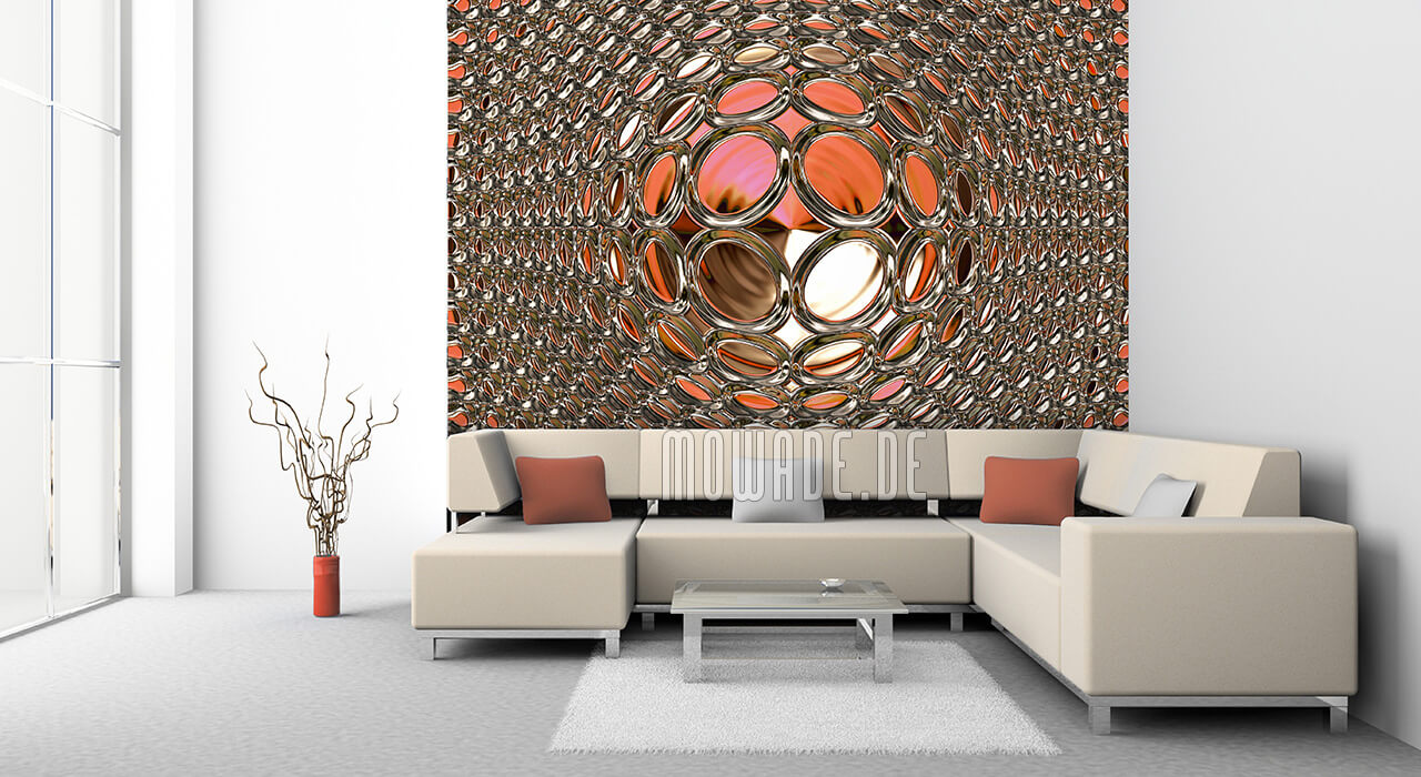 schmuck-tapete rot gold glamour disco-kugel vlies