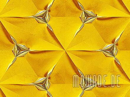 stylische tapete gelb silber