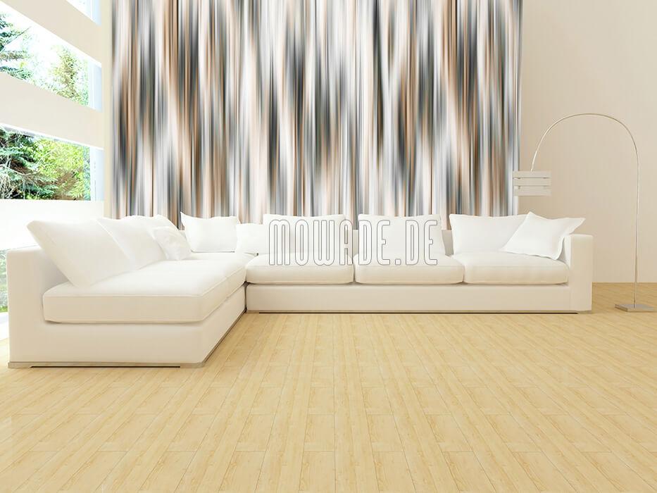 tapete grau braun wohnzimmer buero schimmernde streifen