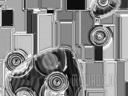 tapete silber grau relief metall-optik kunst bild online