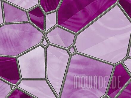 tapeten-design rosa pink mosaik vlies wohnzimmer