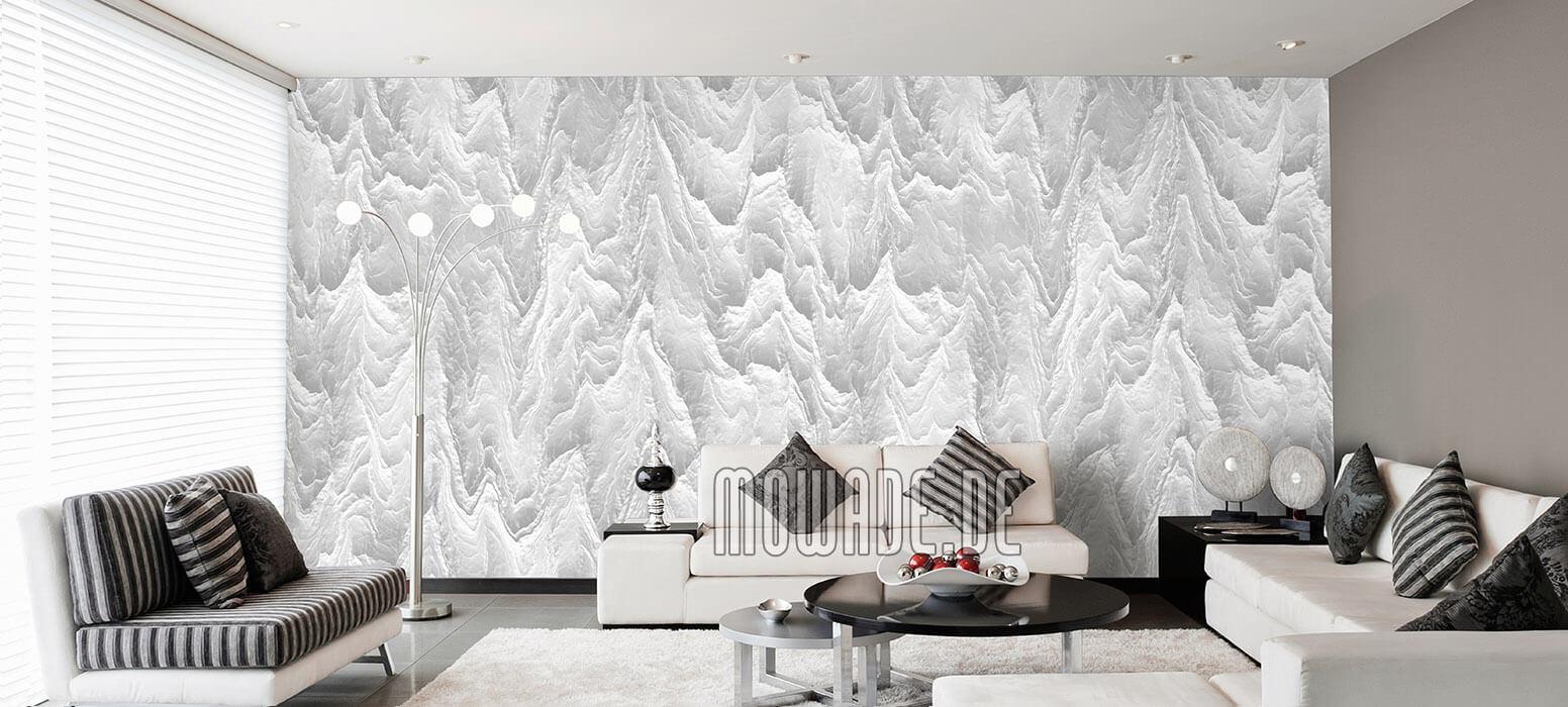 tapeten weiss wohnzimmer hotel bar stylisch modern abstrakte berglandschaft