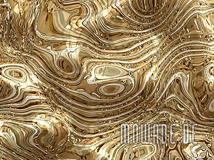 tapetendesign gold edle wellen huegel wohnzimmer