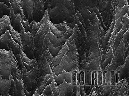 tapetendesign schwarz wohnzimmer lounge hotel bar abstrakte berglandschaft