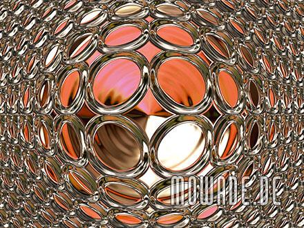 vliestapete rot gold glamour disco-kugel