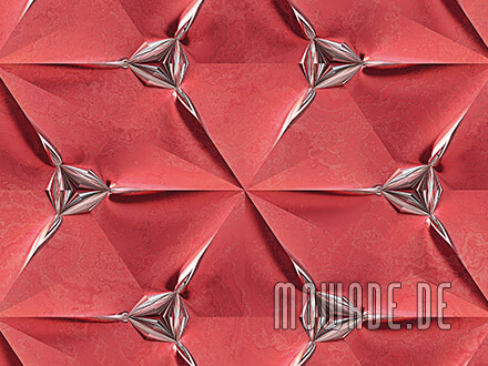 vliestapete rot wandgestaltung faltpolygon