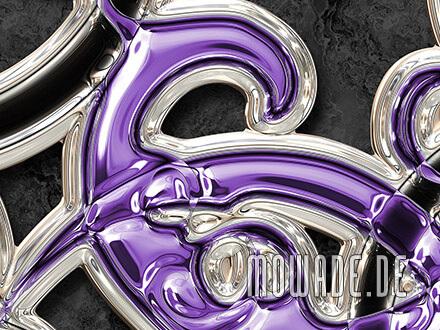 vliestapeten schwarz violett neo-barock metall-optik ornament