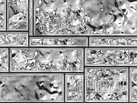 wand-design silber grau metall-optik showroom hotel lounge streifen tapete