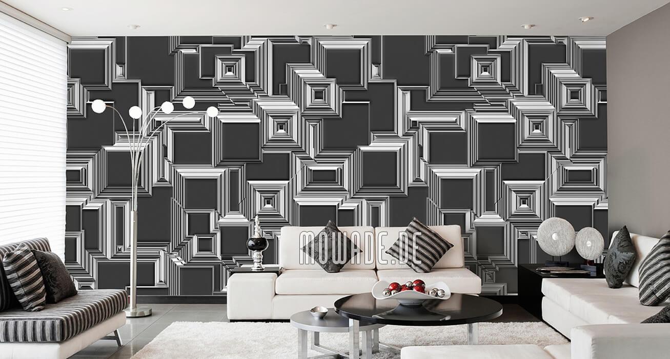wand-motiv grau weiss abstraktes stadt bild-tapete