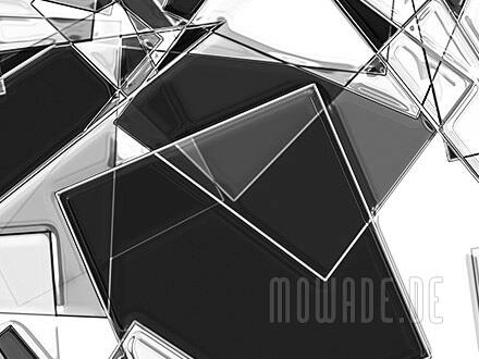 wandbild schwarz weiss wunschformat wilde geometrie quadrate