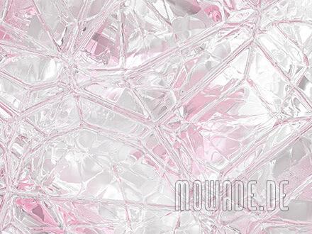 wanddesign weiss rosa tapete glas mosaik bild