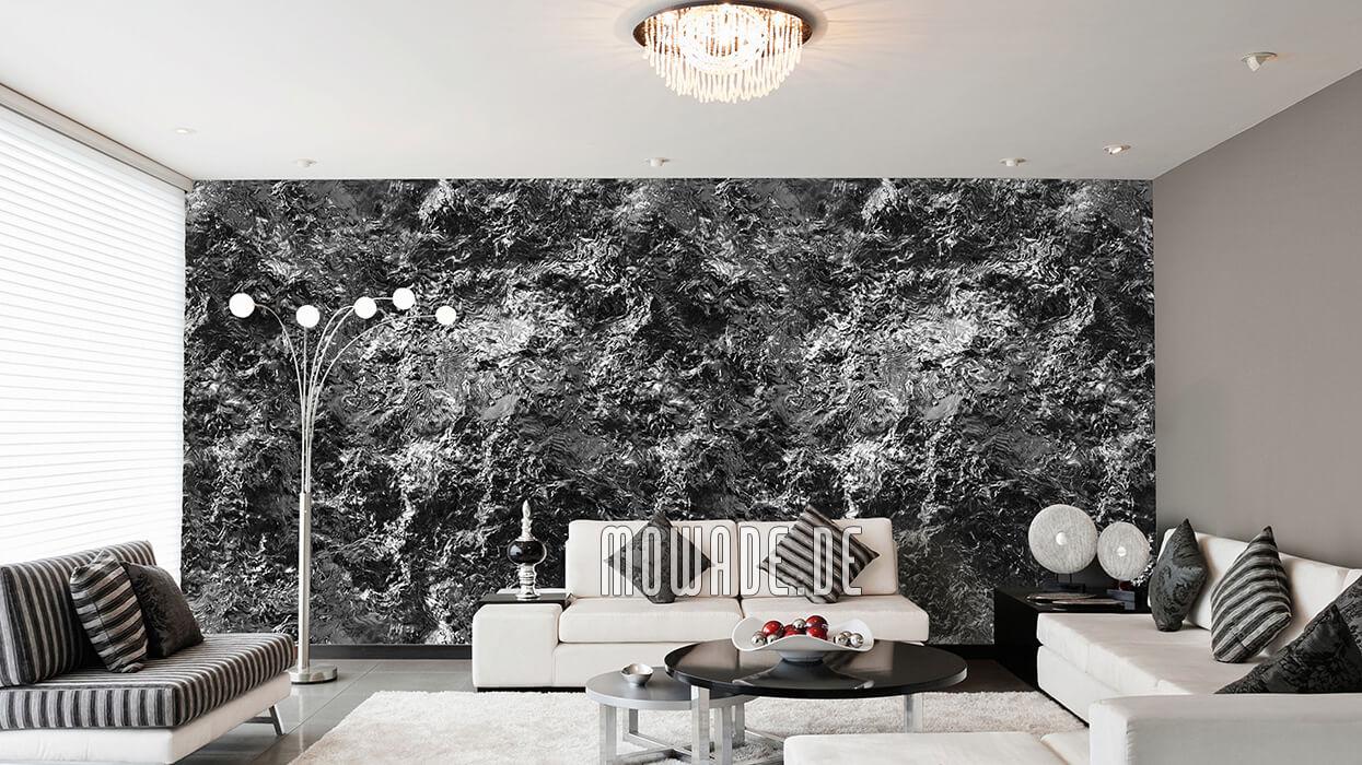 wandgestaltung grau schwarz fels-struktur lounge bar