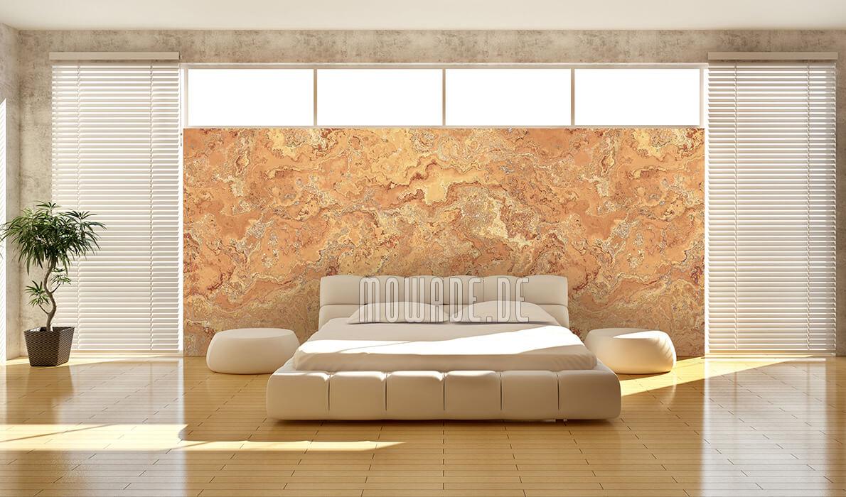 wandgestaltung orange erd stein-struktur bar hotel vliestapete