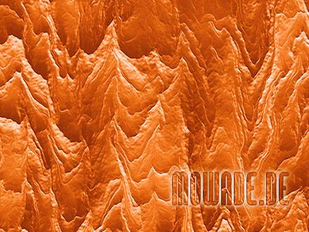 wandgestaltung orange wohnzimmer hotel modern abstrakte berglandschaft fototapete