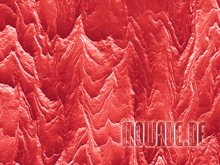 wandgestaltung zinnober rot wohnzimmer hotel modern abstrakte berglandschaft fototapete