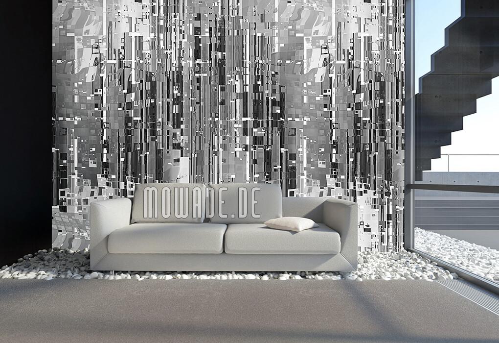wandmotiv grau abstrakte moderne stadtlandschaft bild-tapete