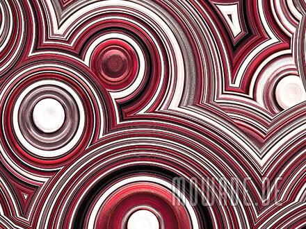 wandmotiv kreise rot weiss schwarz tapete