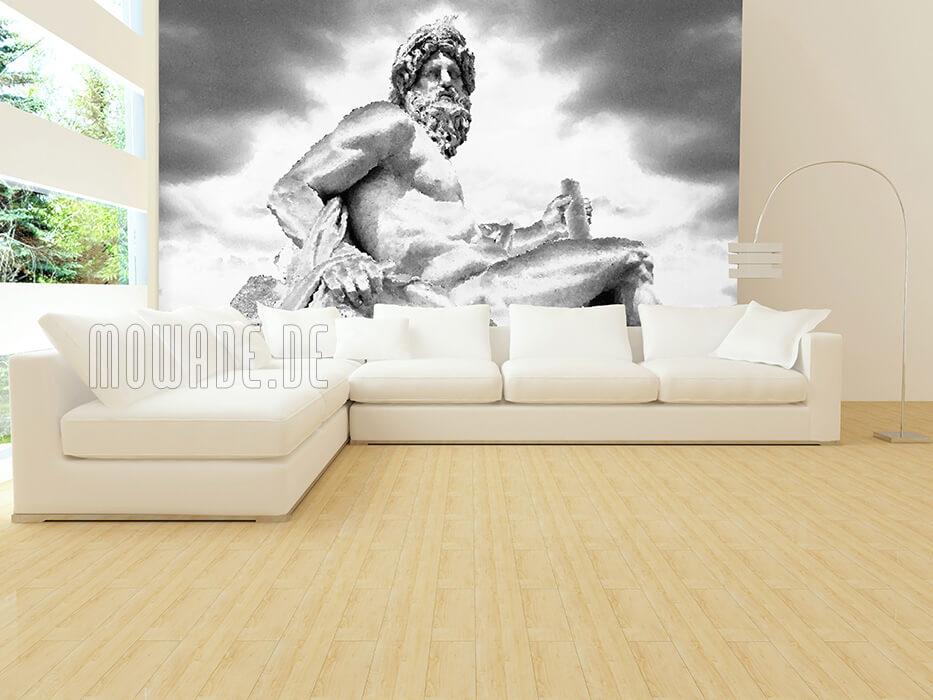 wandmotiv rom schwarz weiss grau statue ganges bildtapete xxl