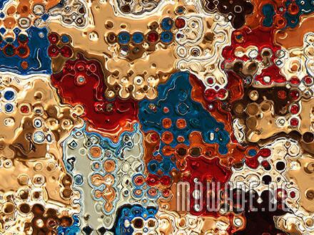 wandmotiv rot gold blau vliestapete