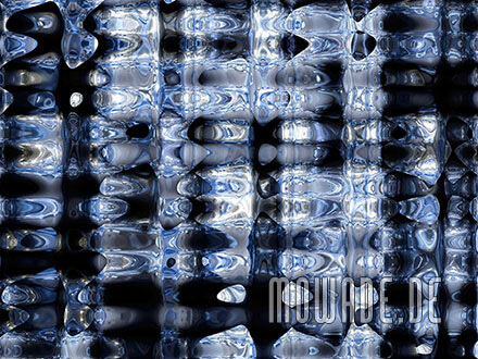 ausgefallene fototapete blau schwarz metall-optik