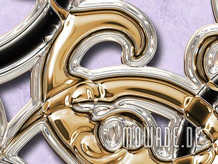 ausgefallene ornament tapete flieder gold schwarz ornament xxl