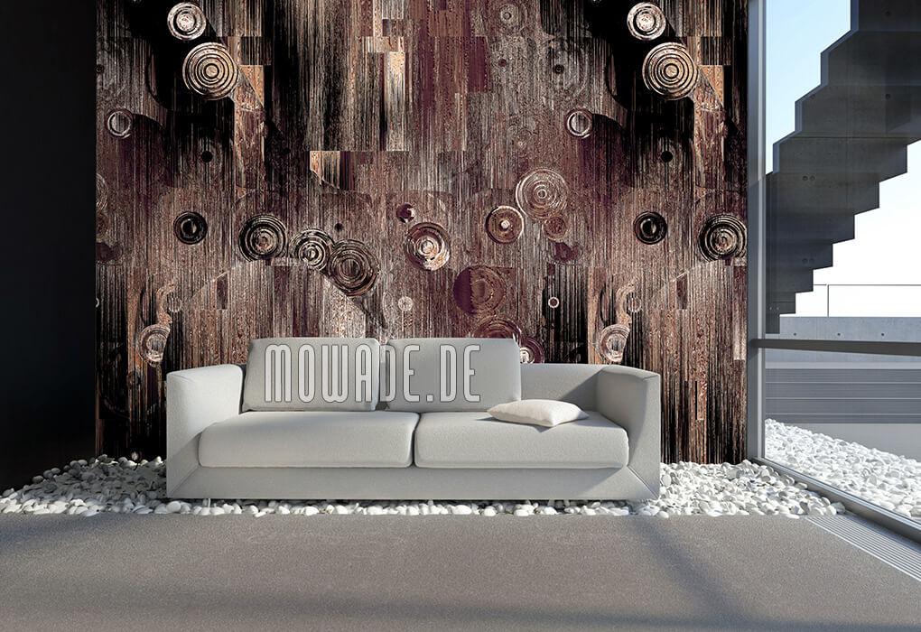 bild-tapete braun schwarz schwebende kreise modernes wandmotiv wunschformat