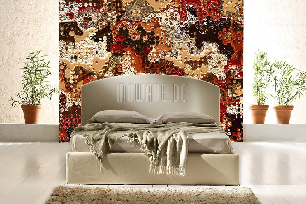design-tapete gold rot braun wohnzimmer lounge online