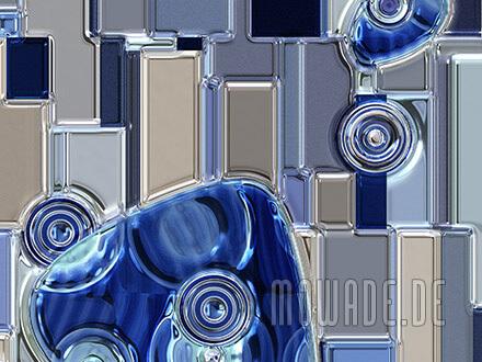 fototapete blau silber grau metall-look