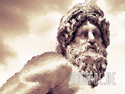 fototapete sepia mosaik statue ganges rom