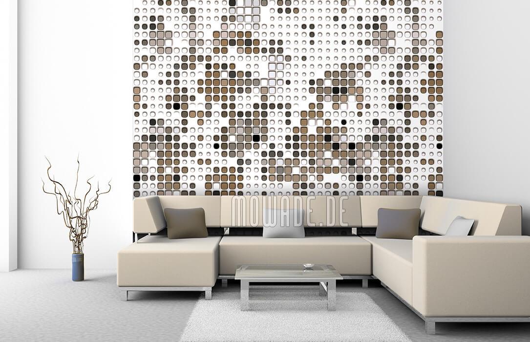 moderne bild-tapete xxl weiss grau braun abstrakte punkte online